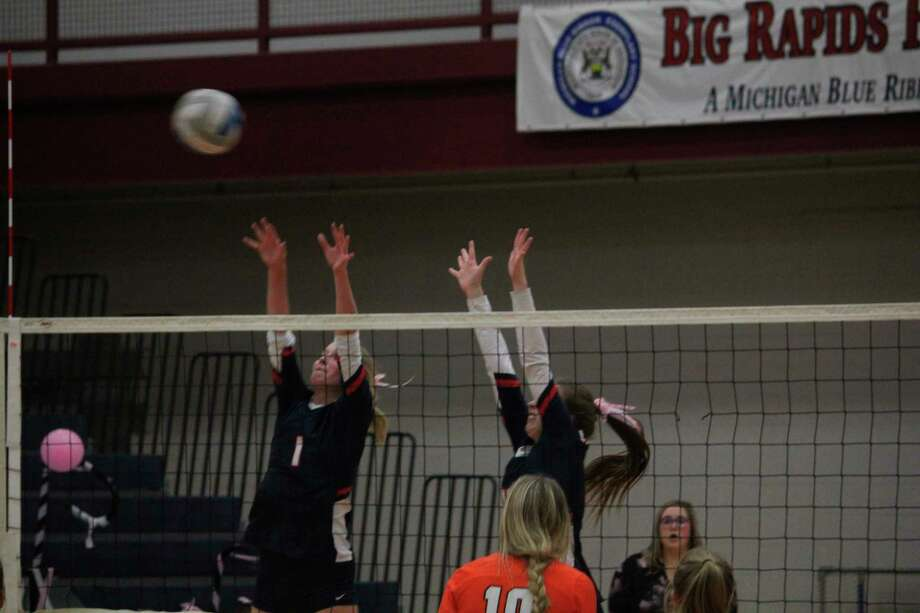 Big Rapids volleyball practices can still continue, but must remain outdoors the MHSAA said on Thursday. (Pioneer photo/John Raffel)