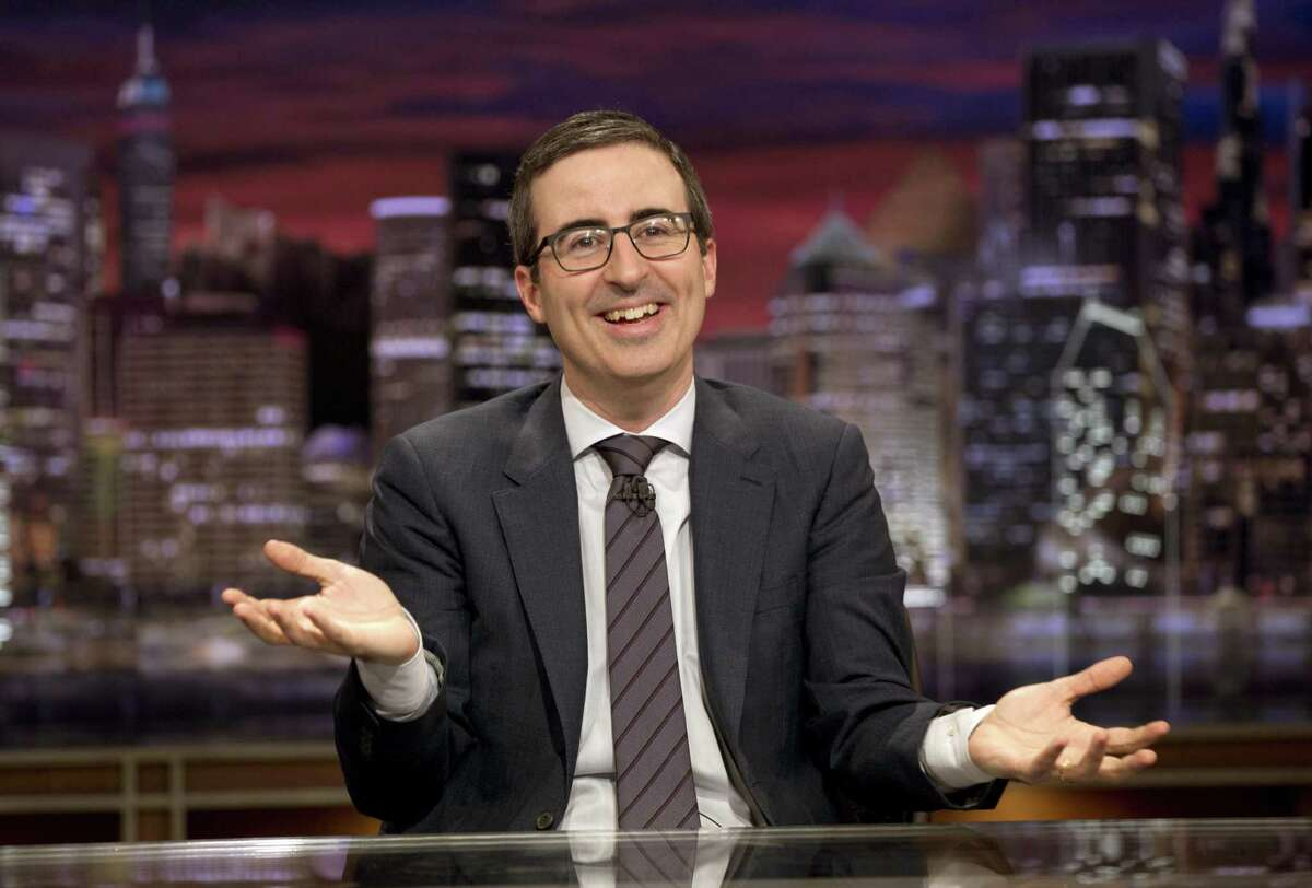 """This Oct. 18, 2015 image released by HBO shows John Oliver from """"Last Week Tonight with John Oliver."""""""