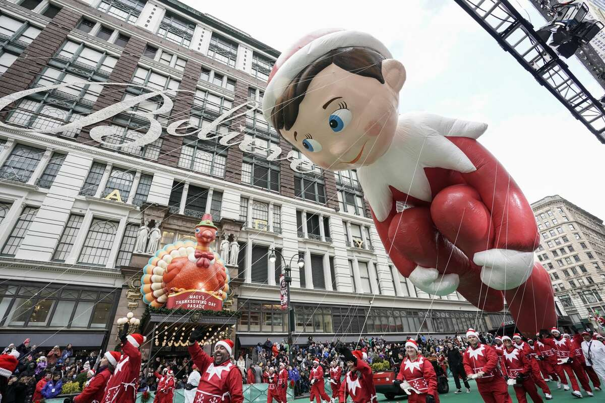The Elf On The Shelf Balloon at the 93rd Macy's Thanksgiving Day Parade in New York City on Nov. 28, 2019.