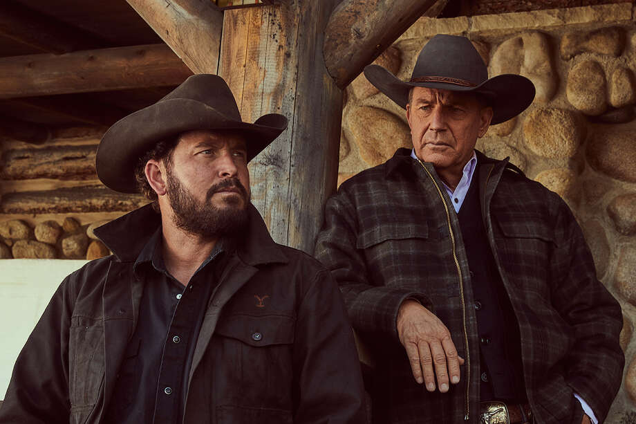 Cole Hauser (left) and Kevin Costner make Yellowstone the most binge-able show on TV. Photo: Courtesy Of Paramount Pictures