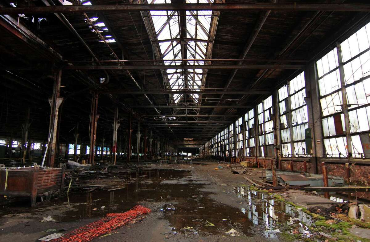 The former Ansonia Copper and Brass factory complex in Ansonia, Conn., on Tuesday Aug. 18, 2020.