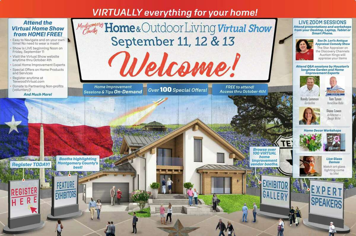Due to concerns amid the COVID-19 pandemic, The Fall Montgomery County Home and Outdoor Living Show is premiering a virtual show offering event attendees an opportunity to see all the exhibitors, products and services that Texwood Home Shows associated with for more than 20 years. The Texwood Virtual Home Improvement Show will premiere Sept. 11-13 at texwoodvirtual.com starting at noon on Friday, Sept. 11. Pictured is the Virtual Lobby for the show.