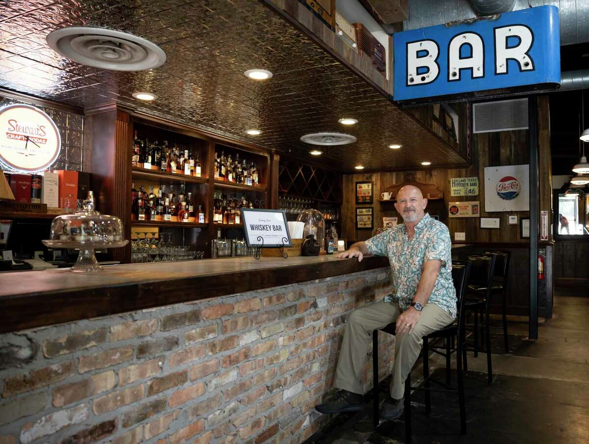 Stephen Said, owner of Dosey Doe BBQ restaurant, poses for a portrait inside their new whiskey bar, Thursday, Aug. 20, 2020, in The Woodlands. The new bar will feature over 150 whiskies from around the world and will open Sept. 1.