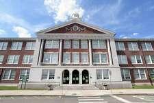 Hamden High School photographed on August 21, 2020.