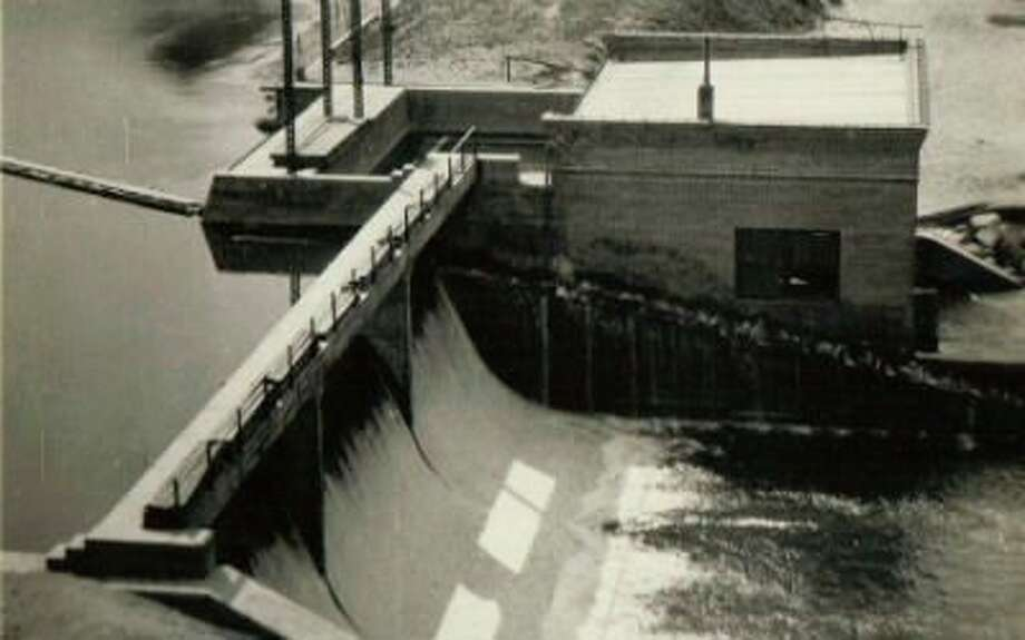 A view of the Stronach Dam circa 1920s. (Manistee County Historical Museum photo)