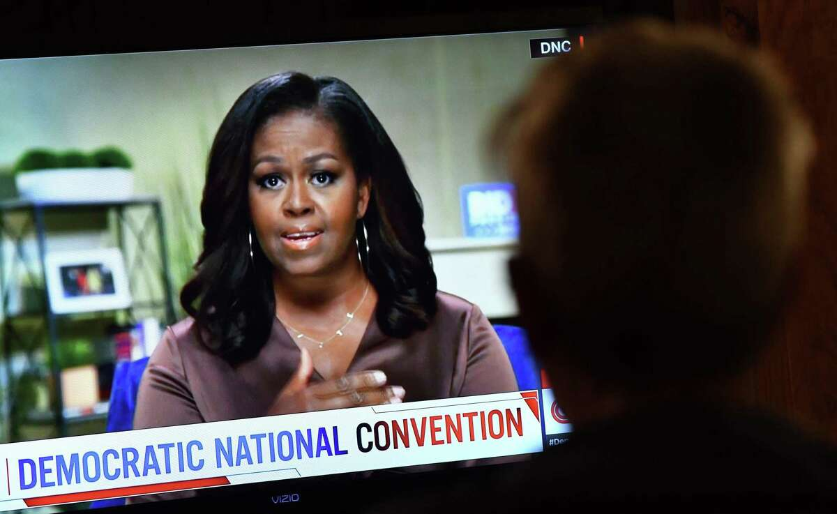 Former First Lady Michelle Obama headlined the opening night of the Democratic National Convention, which is being held virtually. A reader says Obama and Jill Biden are role models for girls across the nation.