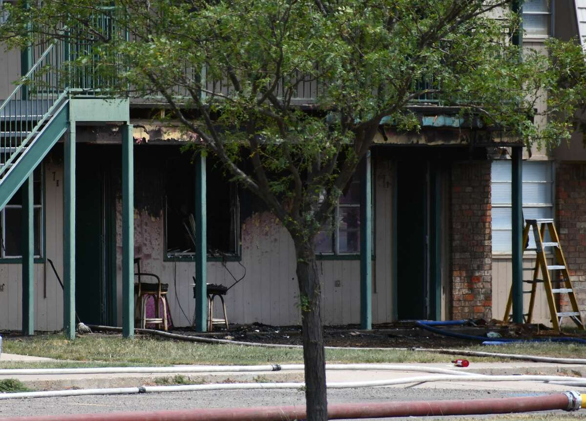 Plainview Fire/EMS respond to a structure fire at the Central Village Apartments, 910 W. 28th St. Wednesday.
