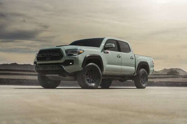 The Tacoma TRD Pro model will carry on the new color tradition with the introduction of Lunar Rock for 2021.