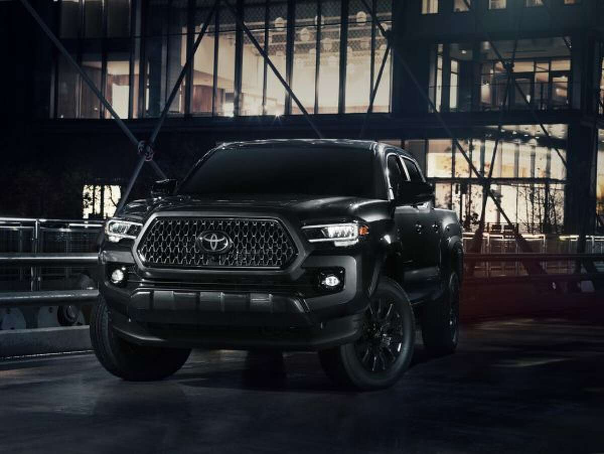 The 2021 Nightshade Tacoma is built on the luxurious Limited grade model with black leather-trim seating and slightly sinister looking black exterior trim.