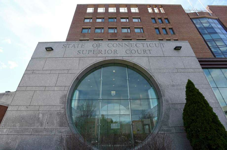 In response to a possible exposure to the Covid-19 Coronavirus, Chief Court Administer Patrick L. Carroll III on April 1, 2020 closed the doors of the Stamford Superior Courthouse in Stamford, Connecticut to the public until further notice. This closing will allow for a comprehensive cleaning and sanitization of the courthouse. Photo: Matthew Brown / Hearst Connecticut Media / Stamford Advocate