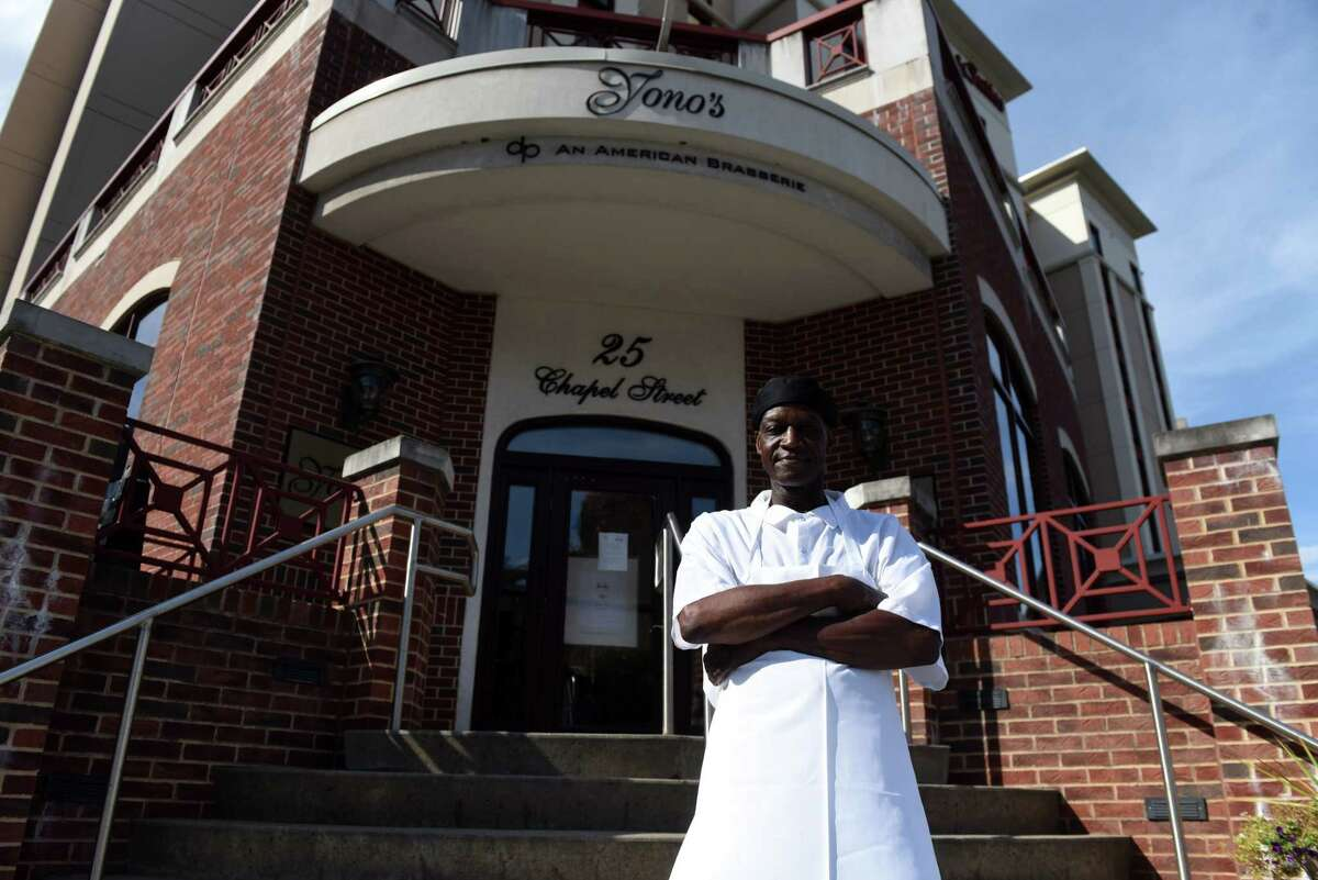 Jerry Russell, a decades-long dishwasher currently working at Yono's, is pictured at his workplace on Friday, Aug. 21, 2020, at Yono?•s/dp: An American Brasserie in Albany, N.Y. (Will Waldron/Times Union)
