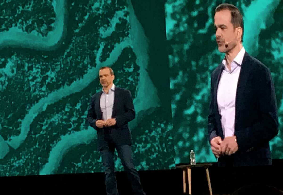This June 2019 photo shows Jeff Wilke at an Amazon conference in Las Vegas. Amazon says executive Wilke, who oversees the companya€™s retail business, will retire early in 2021. He will be replaced by Dave Clark, who runs Amazon's warehouses and delivery network. Wilke has been at Amazon for more than two decades. (AP Photo/Joseph Pisani)