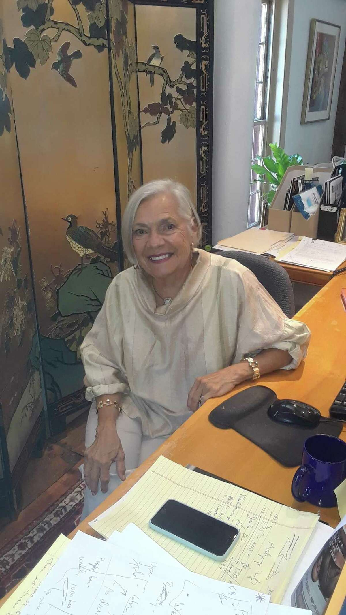 Vita Muir, founder of Litchfield Performing Arts, the Litchfield Jazz Festival and the Litchfield Jazz Camp, at her office on Route 4 in Goshen. The 25th annual jazz fest and camp were held online this year, a repercussion of the COVID-19 pandemic.