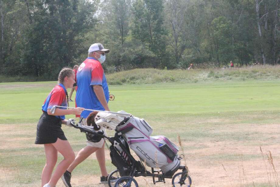 Big Rapids girls were first and Chippewa Hills second on Friday at the Pines Golf Course at Canadian Lakes to open the CSAA golf season. Photo: John Raffel