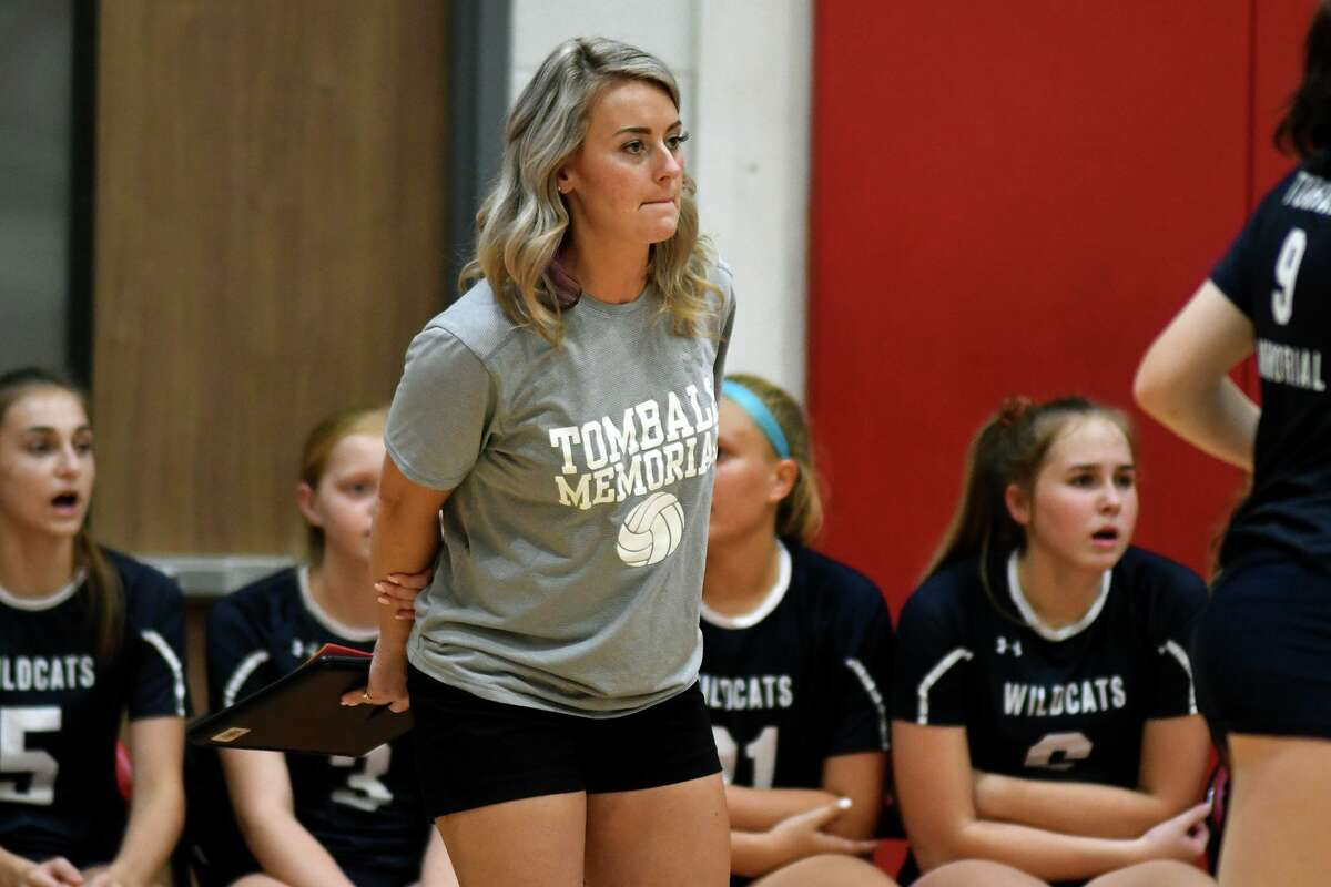 This photo from 2019 shows Sydney Lynch, who has been an assistant coach at Tomball Memorial for nine years and was named girls head volleyball coach at the beginning of 2020.