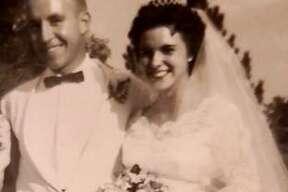 John and Sandra at their wedding