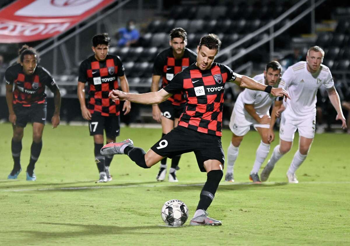 FC Tulsa plays San Antonio FC during a USL Championship soccer match, Saturday, Aug. 22, 2020, at Toyota Field in San Antonio, Texas. (Darren Abate/USL Championship)