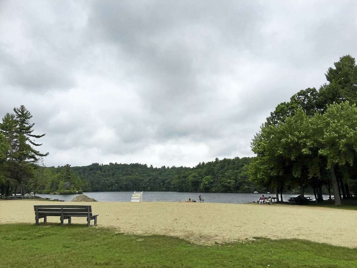 The state Department of Energy & Environmental Protection tests state beaches for bacteria, including Burr Pond State Park in Torrington.