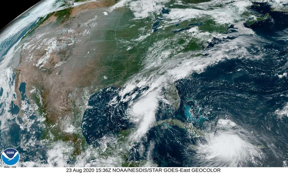 The two major storms in the Gulf of Mexico could lift oil prices as they shut in production in the Gulf. Photo: National Hurricane Center