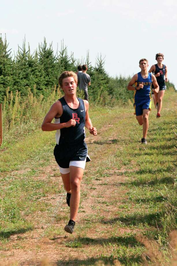 Big Rapids' Ben Knuth works on his pace during Friday's McBain Northern Michigan Christian Invitational. (Courtesy photo_