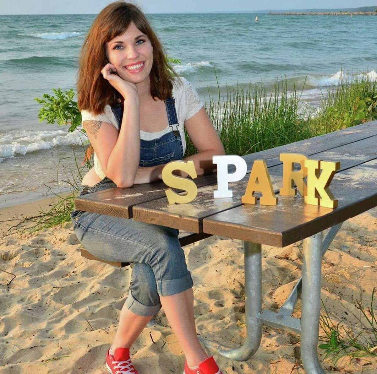 Abagail McKiernan, founder of Traverse City nonprofit Spark in the Dark, is looking to increase the organization's reach into Manistee and Benzie counties.