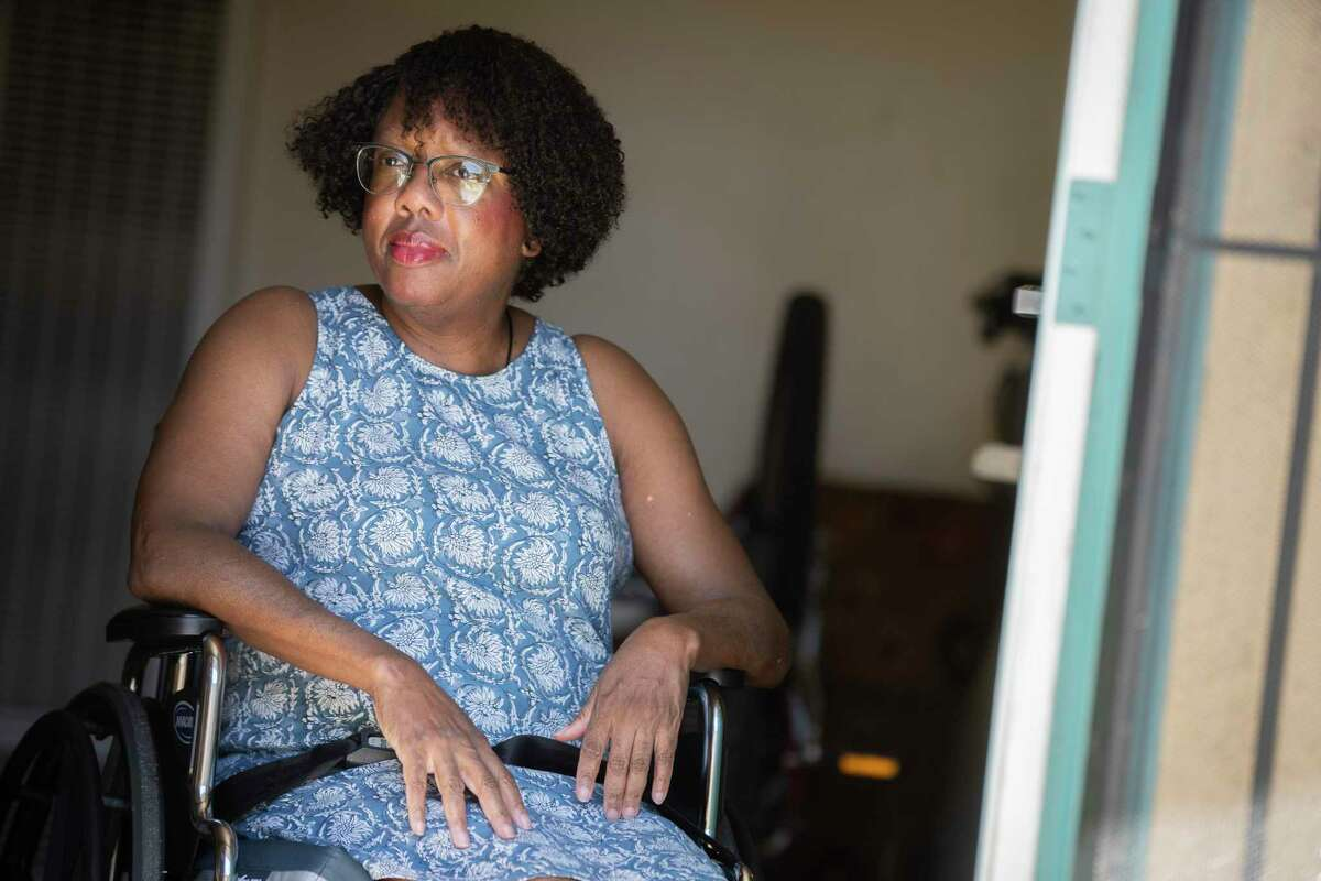 """Elaine Shelly, who has multiple sclerosis, says racial stress has been a part of her everyday life for decades. """"I can't say that because of that stress I ended up getting M.S.,"""" she says, """"but I can say these are the stressors I experienced before I became ill and never got better."""""""