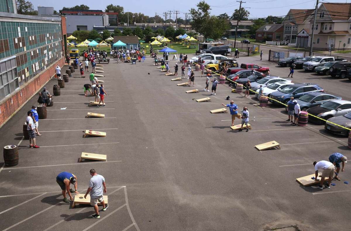 Two person teams from across the state face off in the 5th annual Connecticut Cornhole State Championships.