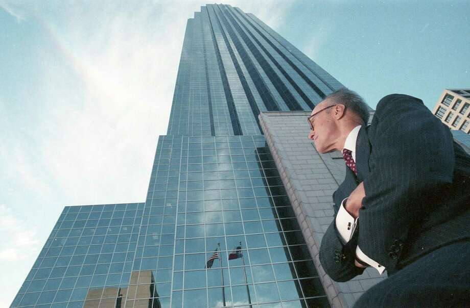 Revered as a visionary Texas developer, Gerald Hines helped transform Houston's cityscape by working with some of the world's most renowned architects from Philip Johnson to I.M Pei.  At the age of 95, Hines passed away peacefully Sunday at his Connecticut family estate. Developer Gerald D. Hines outside the Transco Tower, Nov. 16, 1989. Photo: Howard Castleberry / Houston Chronicle / Houston Chronicle