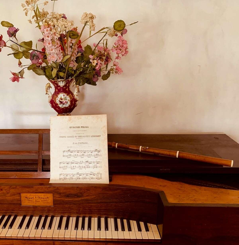 George Clarke's flute in the parlor at Hyde Hall (Joseph Dalton)