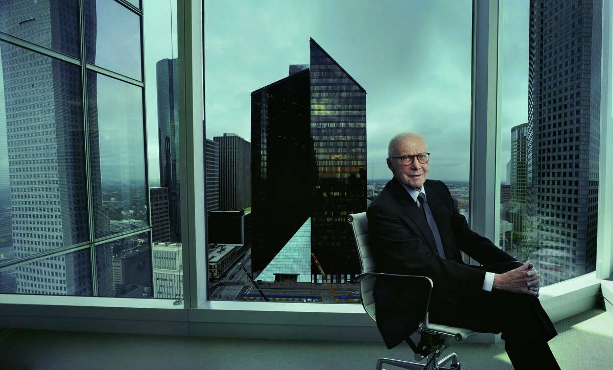 Revered as a visionary Texas developer, Gerald Hines helped transform Houston's cityscape by working with some of the world's most renowned architects from Philip Johnson to I.M Pei.  At the age of 95, Hines passed away peacefully Sunday at his Connecticut family estate. Gerald D. Hines photographed by Annie Leibovitz.