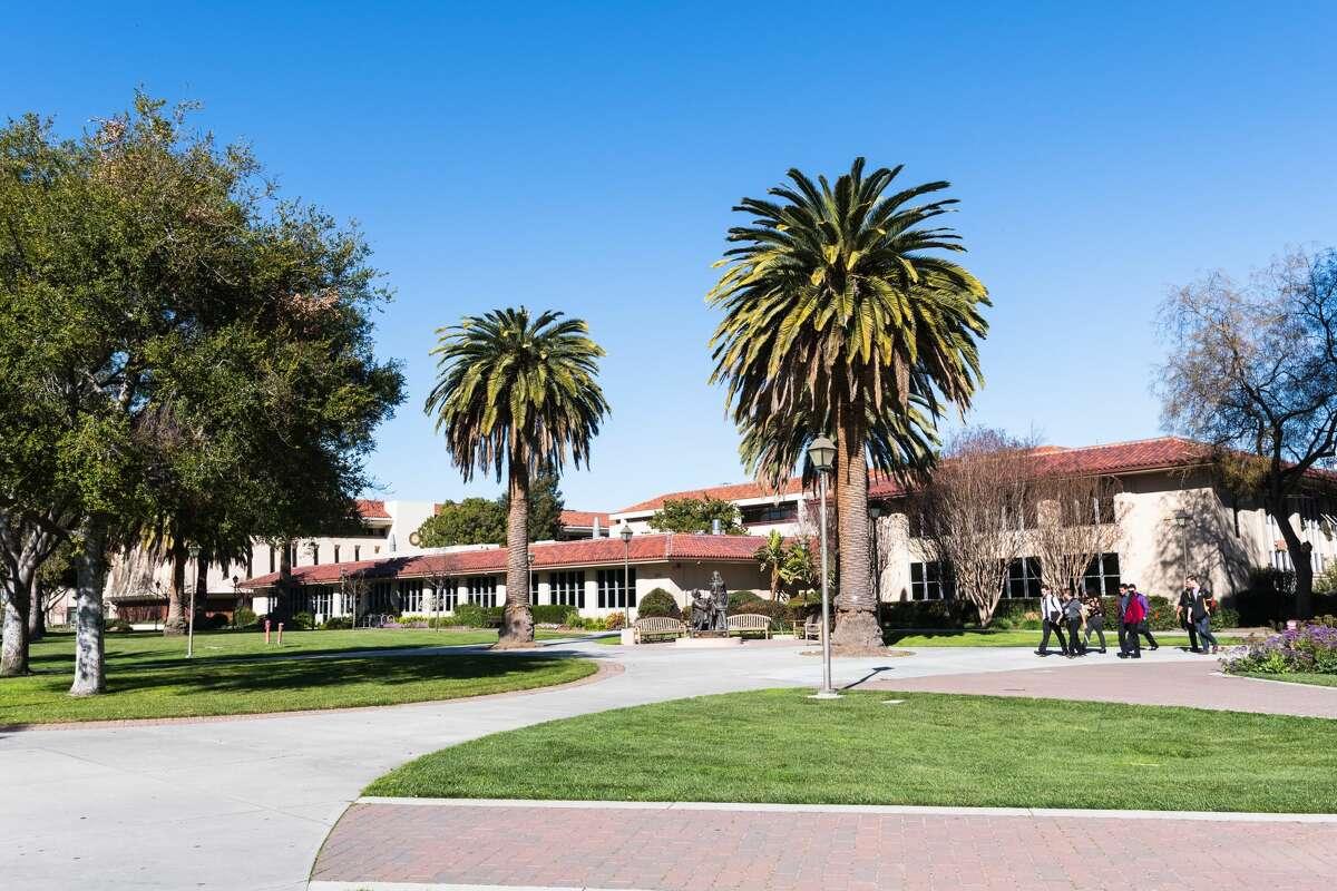 A landscape shot of the Santa Clara University campus.