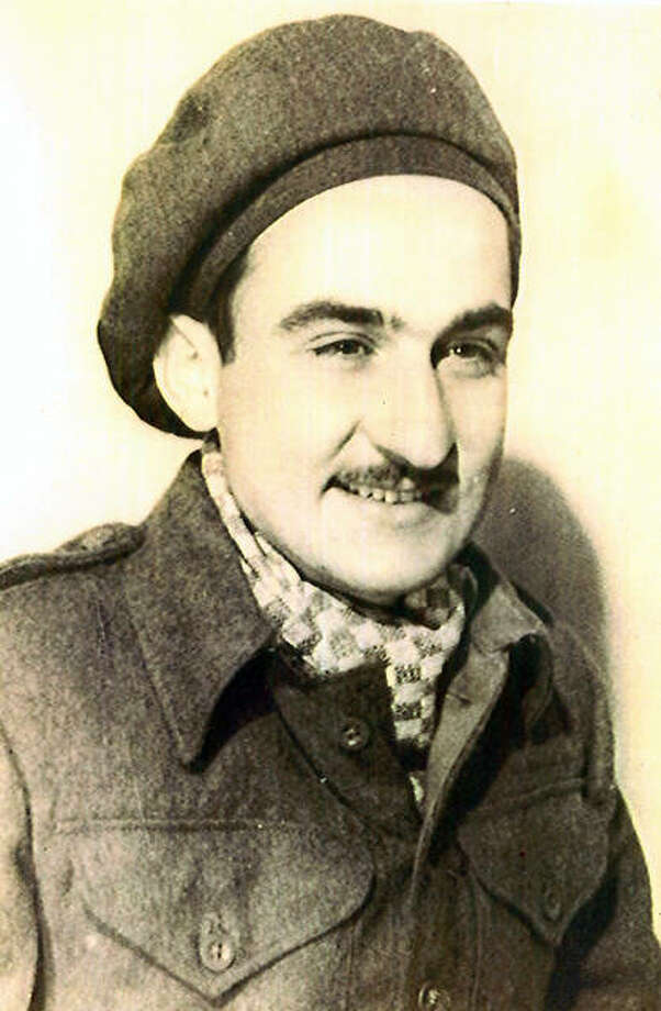 Bob Teichgraeber in a British Army uniform on April 15, 1945, after escaping a German POW camp. Teichgraeber was a prisoner of war for 421 days and spent five days with the British before being returned to the Americans.