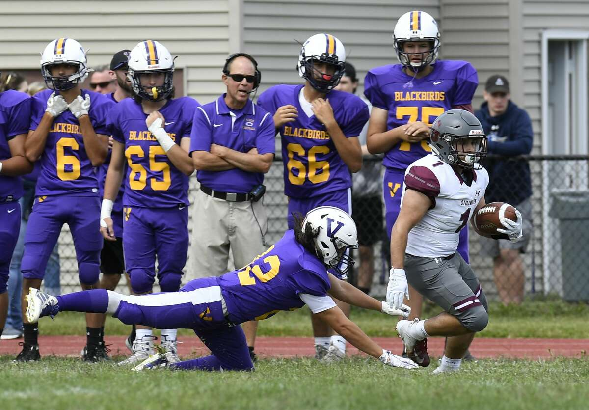 High school football teams can begin practicing Sept. 21 but they cannot play games, according to state guidance issued Monday. (Hans Pennink / Special to the Times Union)