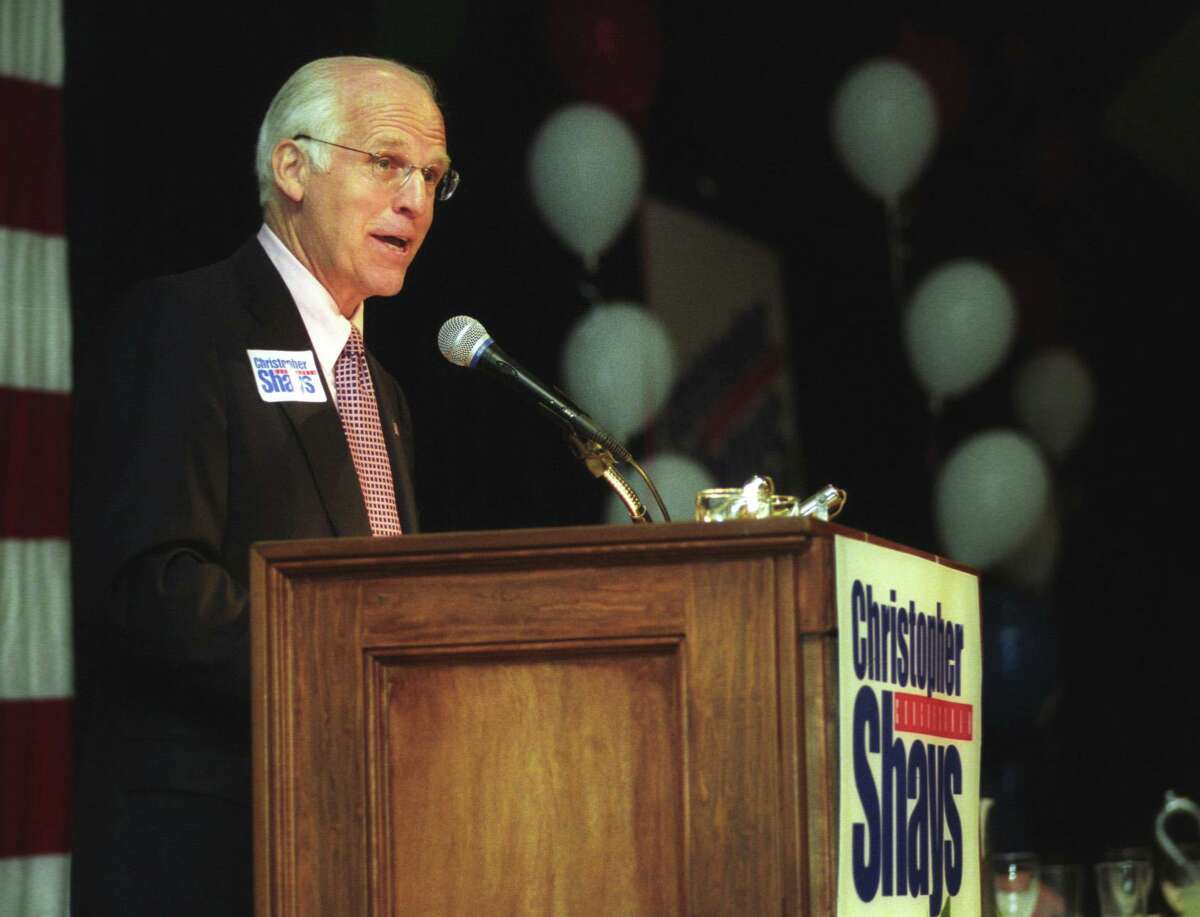 Congressman Chris Shays accepted his nomination for the 4th District by the Republicans at the Italian Center in Stamford, Conn., on May 10, 2004.