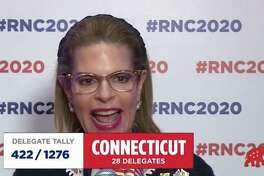 Republican National Committee member Leory Levy of Greenwich declared Connecticut's 28 votes to renominate President Donald Trump at the Republican National Convention in Charlotte, North Carolina on Monday Aug. 24, 2020.