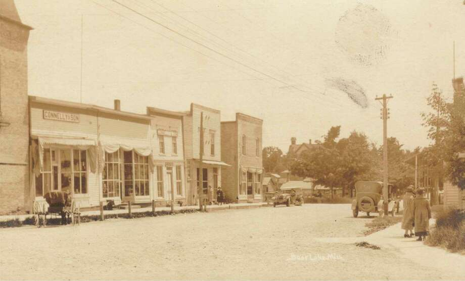 A view of downtown Bear Lake circa 1920. (Manistee County Historical Museum photo)