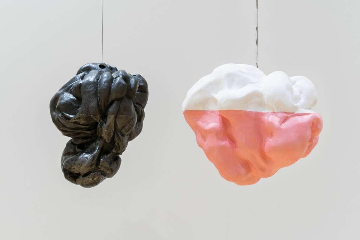 Detail view of Kim Faler, Double Bubble, 2019 - 2020 Metal, gypsum, glass, wax, sound Courtesy of the artist  Photo: Kaelan Burkett.