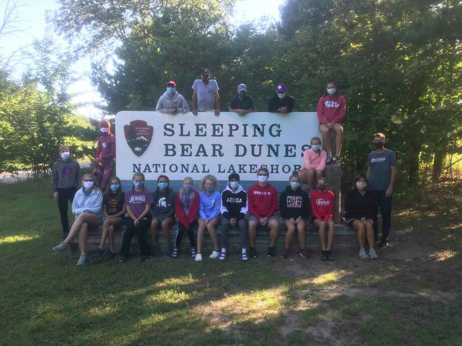 The Chippewa Hills cross-country team recently held a camp at Sleeping Bear Dunes National Lakeshore. (Courtesy photo)