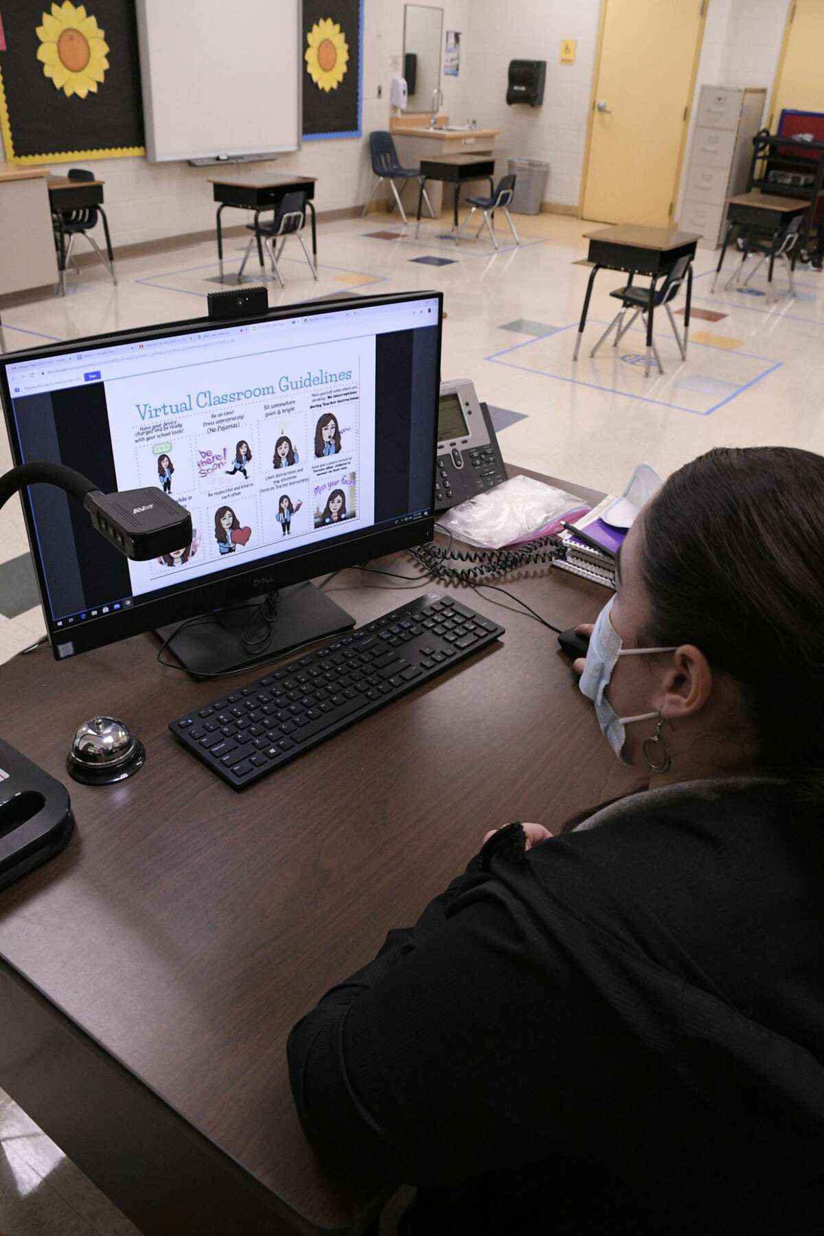 United ISD kicked off the 2020-2021 school year, Monday, August 24, 2020, with the majority of the students participating in distance learning because of the COVID-19 Virus.