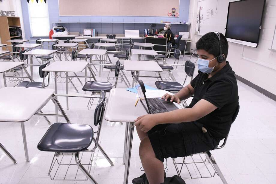 United ISD kicked off the 2020-2021 school year, Monday, August 24, 2020, with the majority of the students participating in distance learning because of the COVID-19 Virus. Photo: Cuate Santos