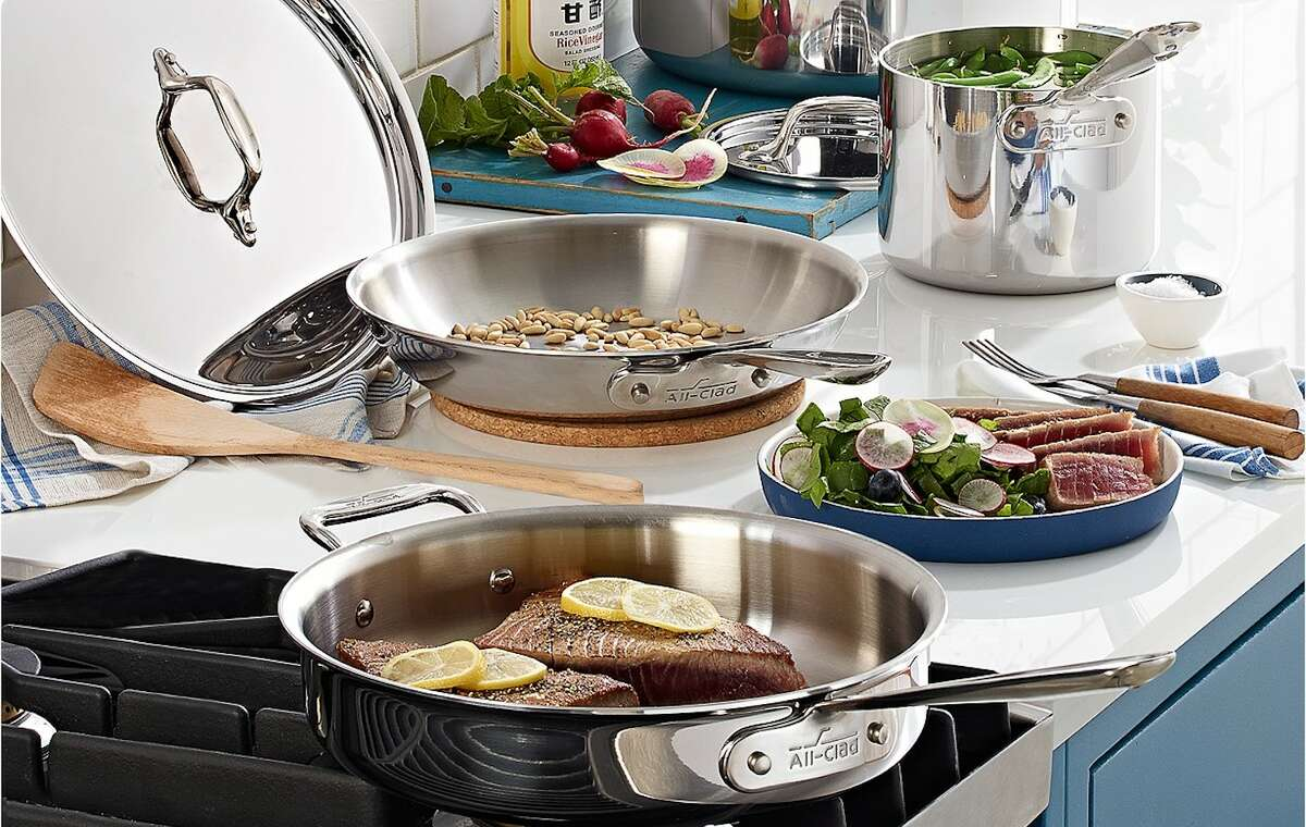 All-Clad Stainless Steel 7-Pc. Cookware Set, Macy's