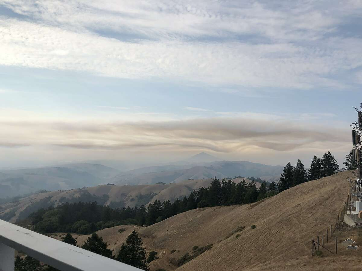 On Sunday afternoon, from the Dixon Fire Lookout at Barnabe Peak in Samuel P. Taylor State Park in Marin County, fire spotters watched the smoke erupt from Inverness Ridge in the Woodward Fire at Point Reyes National Seashore