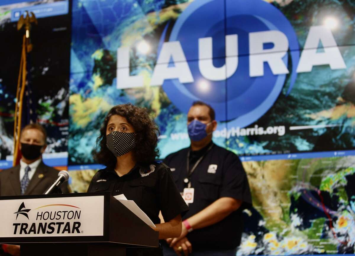 Judge Lina Hidalgo emphasized that Laura should not be compared to past hurricanes like Harvey while addressing the media from Houston Transtar on Monday Aug. 24th, 2020.