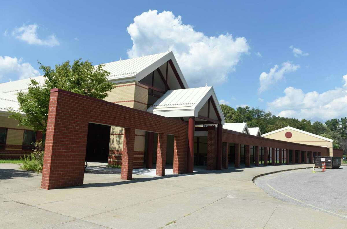 Westover Elementary School in Stamford, Conn. Monday, Aug. 24, 2020.