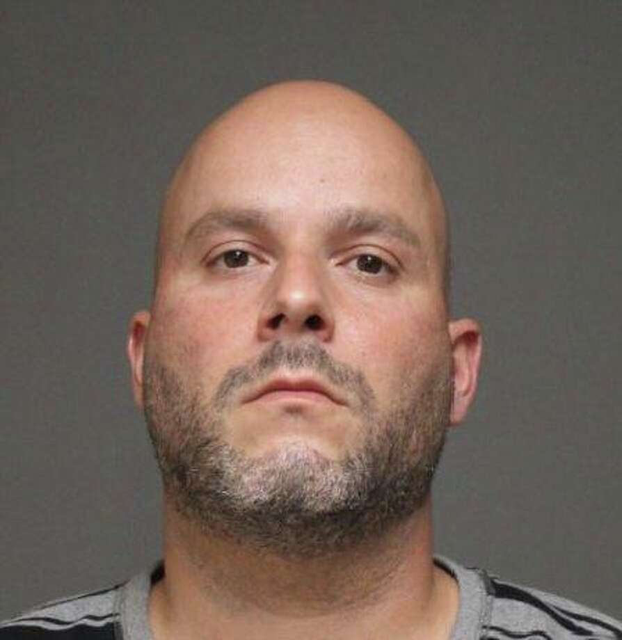 Steven Botelho, a 38-year-old Bridgeport resident, has been arrested for allegedly causing a large fire near the Metro North train tracks with illegal fireworks, according to police. Photo: / Fairfield Police Department
