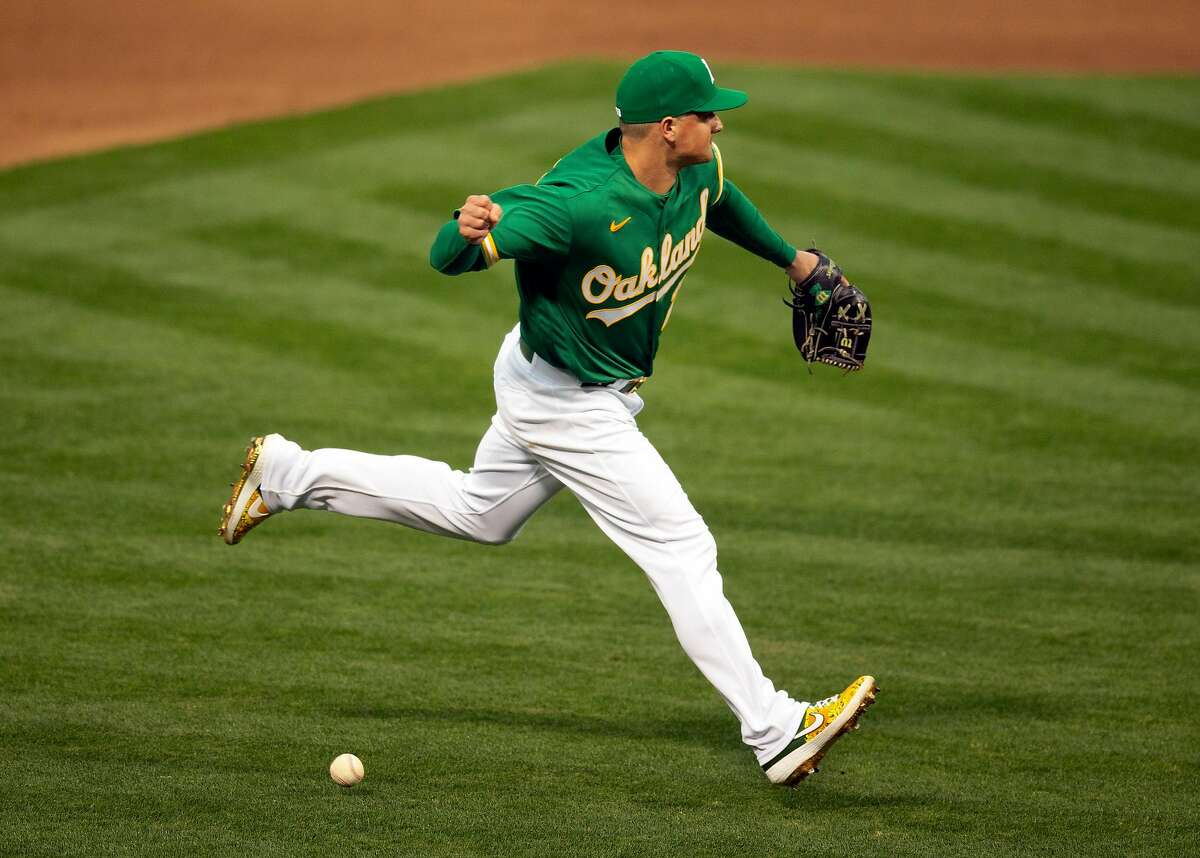 Before his injury last season, Matt Chapman struggled at the plate, batting .232 with 54 strikeouts in 152 plate appearances.