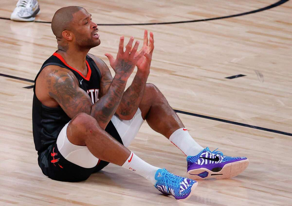 P.J. Tucker and the Rockets let one get through their grasp in Game 4 on Monday with a 117-114 loss to the Thunder.