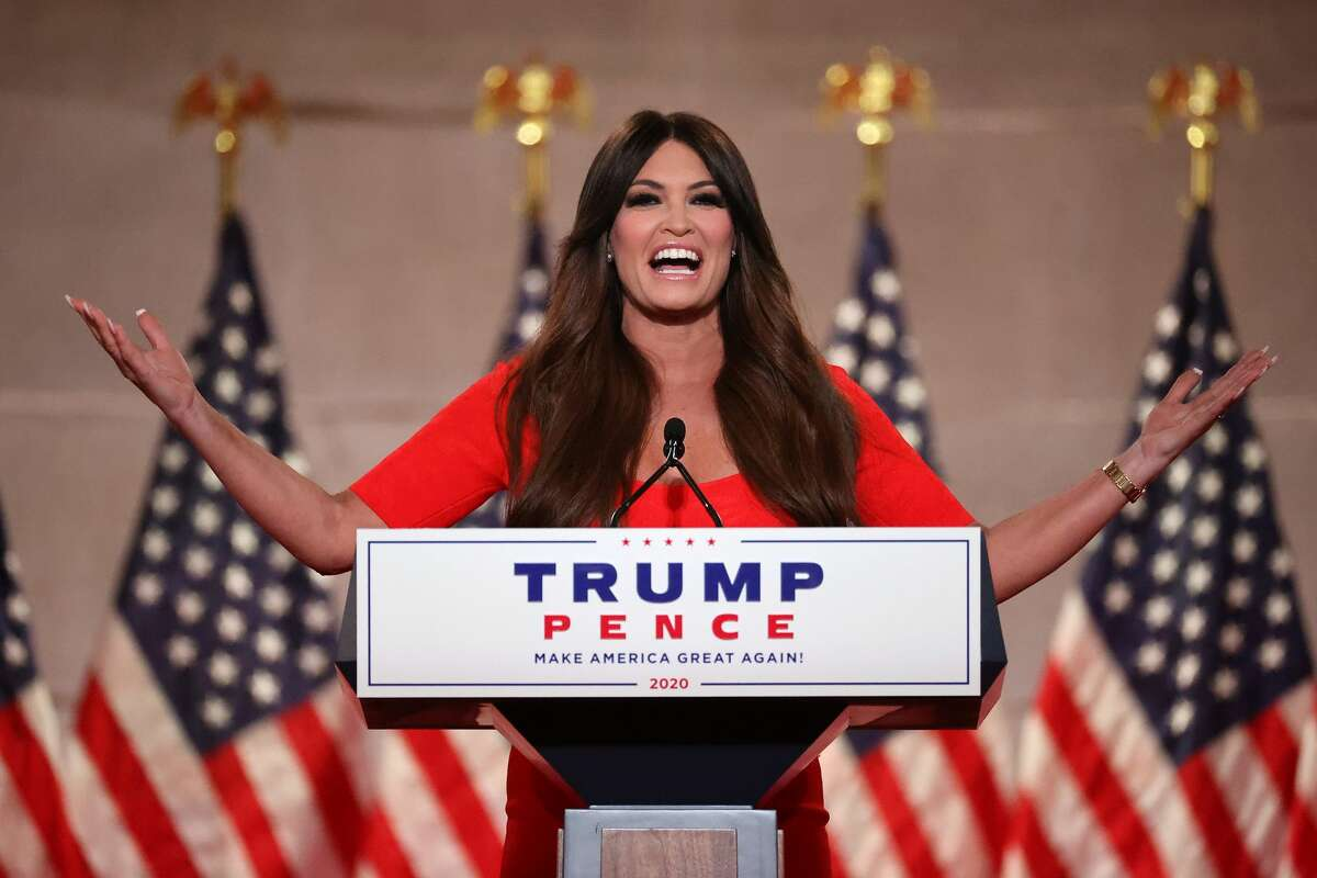 Kimberly Guilfoyle pre-records her address to the Republican National Convention at the Mellon Auditorium August 24, 2020 in Washington, DC.