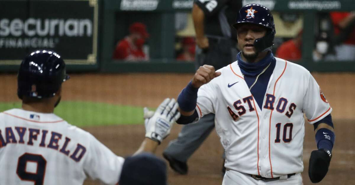 Yuli Gurriel (10) will return for his sixth season with the Astros after agreeing to a one-year extension with a team option for 2022.