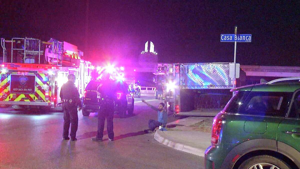 One man is dead after an 18-wheeler rolled over on a Northeast side frontage road.